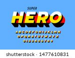 comics super hero style font ... | Shutterstock .eps vector #1477610831