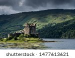 Small photo of Dornie, Scotland - July 20, 2019: Eilean Donan Castle is arguably the most famous in Scotland and is recognised around the world. The first castle on the site was established in the 13th century.