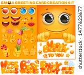 birthday greeting card creation ...   Shutterstock .eps vector #1477623677