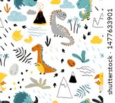 cute seamless pattern with... | Shutterstock .eps vector #1477633901