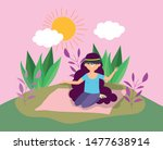 young people picnic in the park | Shutterstock .eps vector #1477638914