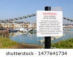 Sign At Preston Marina Warning...