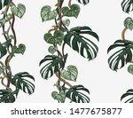 beautiful tropical vintage... | Shutterstock .eps vector #1477675877