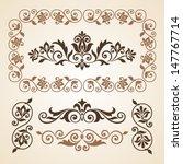 set of vintage ornate frames... | Shutterstock .eps vector #147767714