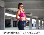 athletic beautiful woman... | Shutterstock . vector #1477686194