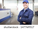 portrait of a worker in a... | Shutterstock . vector #147769517