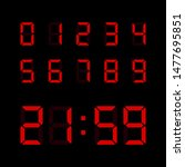 red digital numbers set... | Shutterstock .eps vector #1477695851