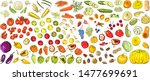set of fruits  berries and... | Shutterstock .eps vector #1477699691