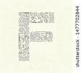 mono line style geometric font ... | Shutterstock . vector #1477702844