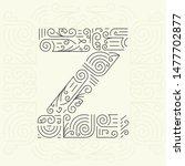 mono line style geometric font ... | Shutterstock . vector #1477702877