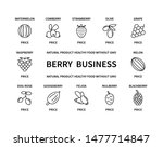 berry business linear icons... | Shutterstock .eps vector #1477714847