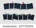 squared photo frames garland...   Shutterstock .eps vector #1477725554