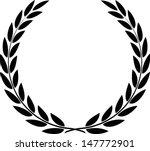 laurel wreath vector  | Shutterstock .eps vector #147772901