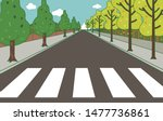 a street crossing background... | Shutterstock .eps vector #1477736861
