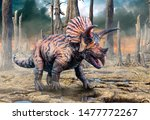 Triceratops From The Cretaceous ...