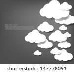 white clouds gray background | Shutterstock .eps vector #147778091