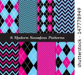 8 Chevron And Argyle Patterns...