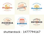 engraving fast food logos and... | Shutterstock .eps vector #1477794167