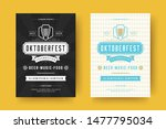oktoberfest flyers or posters... | Shutterstock .eps vector #1477795034