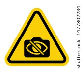 warning attention sign with not ... | Shutterstock .eps vector #1477802234