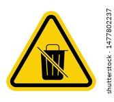 warning attention sign with... | Shutterstock .eps vector #1477802237