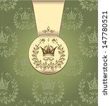 royal green gold color... | Shutterstock . vector #147780521