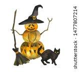 A Creepy Halloween Pumpkin Man...