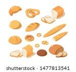 cooking bread. bakery food...   Shutterstock .eps vector #1477813541