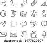 set of contact icons  address ... | Shutterstock .eps vector #1477820507