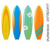 Vector Surfboard Icons Isolate...