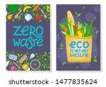 zero waste brochure templates... | Shutterstock .eps vector #1477835624