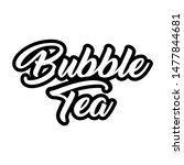 bubble tea black and white... | Shutterstock .eps vector #1477844681