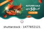 autumn sale  green web banner...