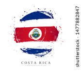 flag of costa rica in the shape ... | Shutterstock .eps vector #1477882847