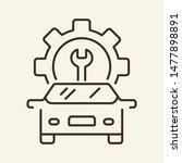 auto repair shop line icon.... | Shutterstock .eps vector #1477898891