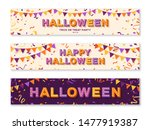 happy halloween horizontal... | Shutterstock .eps vector #1477919387