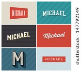 Michael name , graphic design elements