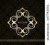 vintage frame on seamless... | Shutterstock .eps vector #147792551