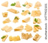 Cheese Collection Isolated On...