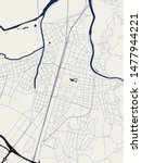 vector map of the city of... | Shutterstock .eps vector #1477944221