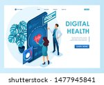 doctor shows the doctor... | Shutterstock .eps vector #1477945841