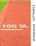 race track at 100 meter | Shutterstock . vector #147794915