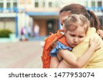 mother accompanies the child to ...   Shutterstock . vector #1477953074