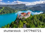 Bled  Slovenia   Aerial...