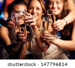 group of partying girls... | Shutterstock . vector #147796814