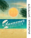vector retro summer background... | Shutterstock .eps vector #147797279