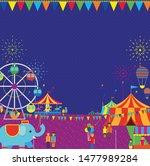 festival carnival fireworks...   Shutterstock .eps vector #1477989284