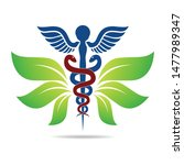 medical symbol created using... | Shutterstock .eps vector #1477989347