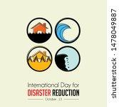 international day of disaster... | Shutterstock .eps vector #1478049887