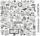 travel doodles | Shutterstock .eps vector #147808754